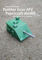 Panther Grav Tank/AFV Papercraft model