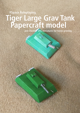 Tiger Large Grav Tank and Cheetah SPG Papercraft models