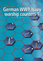 German Navy WW1 warship hex counters