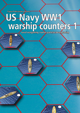 US Navy WW1 warship hex counters 1
