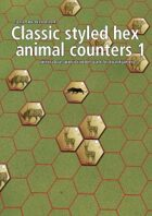 Classic styled hex animal counters 1