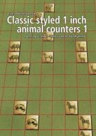Classic styled 1 inch animal counters 1