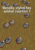 Metallic styled hex animal counters 1