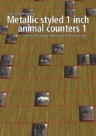 Metallic styled 1 inch animal counters 1
