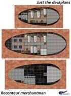 Reconteur Merchantman deckplans sheet