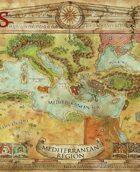 Mediterranean Campaign Map (Swords of Kos Fantasy Campaign Setting)
