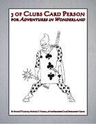 3 of Clubs Card Person (Adventures in Wonderland)