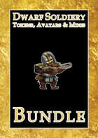 Dwarf Soldiery Tokens, Avatars, & Minis [BUNDLE]