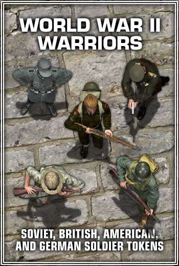 World War II Warriors - Virtual Tabletop Tokens