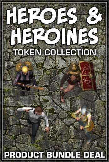 Heroes & Heroines Token Collection Bundle