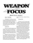 Weapon Focus: Battle Axes