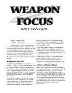 Weapon Focus: Riot Control