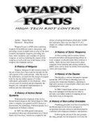 Weapon Focus: High Tech Riot Control