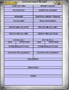 Leviathan Character Sheet