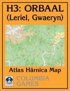 Atlas Map H3: Leriel & Gwaeryn, Orbaal