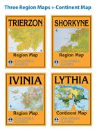 HarnWorld Three Region Maps and Lythia Continent Map [BUNDLE]
