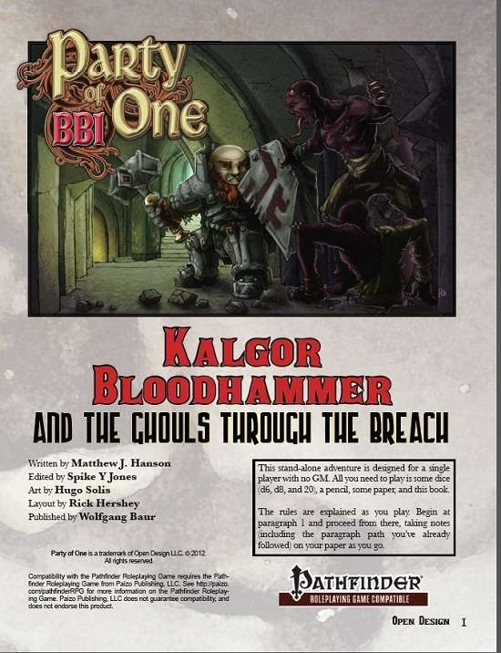 Trollish Delver: Finally, you can play Pathfinder solo with