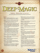 Deep Magic: Errata & Clarifications