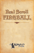 Real Scroll 1: Fireball (Pathfinder RPG)