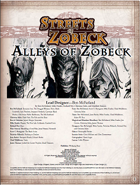 Alleys of Zobeck (Pathfinder RPG)