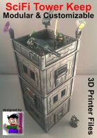 SciFi Tower Keep for 3D Printers