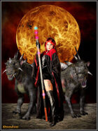 DunJon Poster JPG #72 (Sorceress With Demon Dogs)