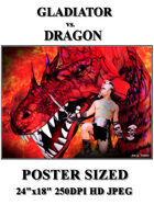 DunJon Poster JPG #125 (Gladiator vs. Dragon)