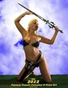 2012 Fantasy Female Calendar & Print Set