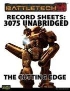 BattleTech: Record Sheets: Total Warfare Style 3075 Unabridged - The Cutting Edge