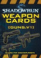Shadowrun: Weapon Cards