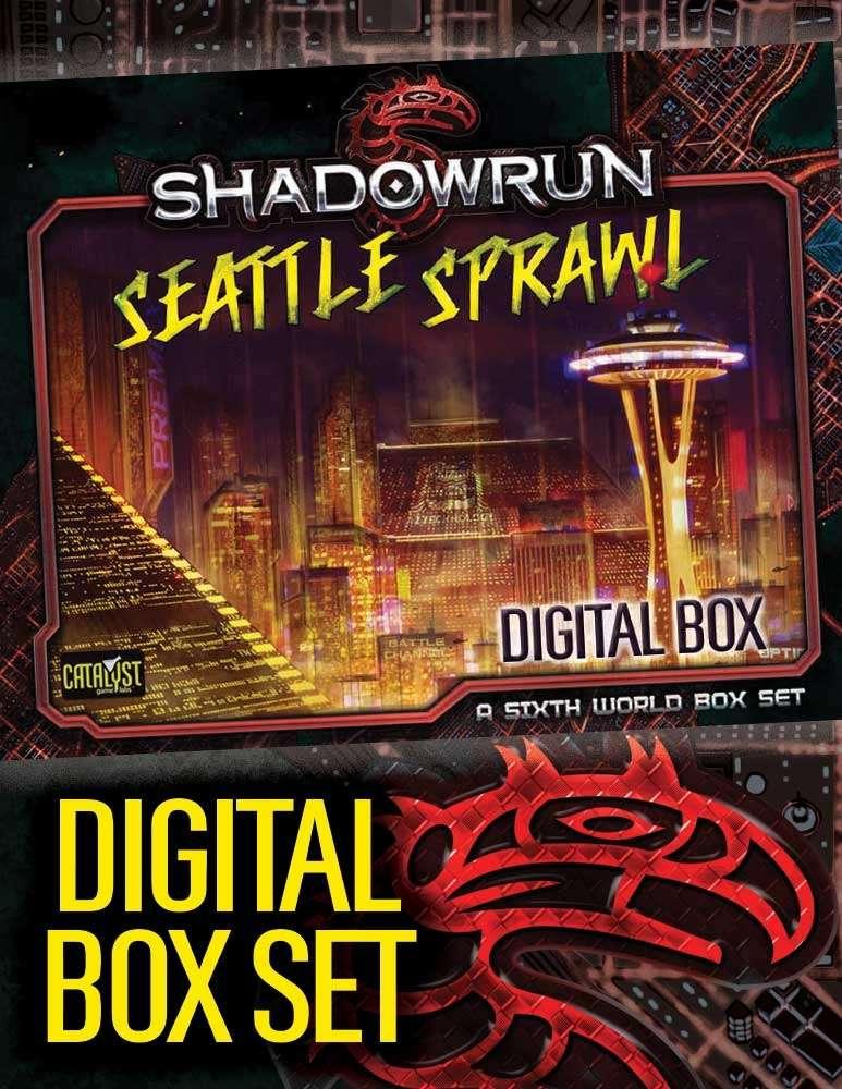 Shadowrun: Seattle Sprawl Digital Box Set - Catalyst Game Labs | Shadowrun,  Fifth Edition | Pegasus Digital