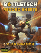 BattleTech Record Sheets: Clan Invasion