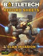 BattleTech Record Sheets: Clan Invasion