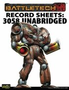 BattleTech: Total Warfare Style Record Sheets: 3058 Upgrade Unabridged Clan