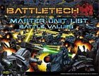 BattleTech: Master Unit List Battle Values