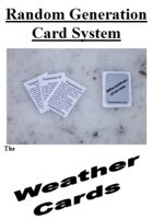 Random Generation Card System: The Weather Cards