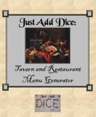 Just Add Dice: Tavern and Restaurant Menu Generator