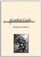Combat Cards: Monstrous Defenses