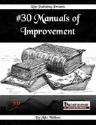 #30 Manuals of Improvement  (PFRPG)