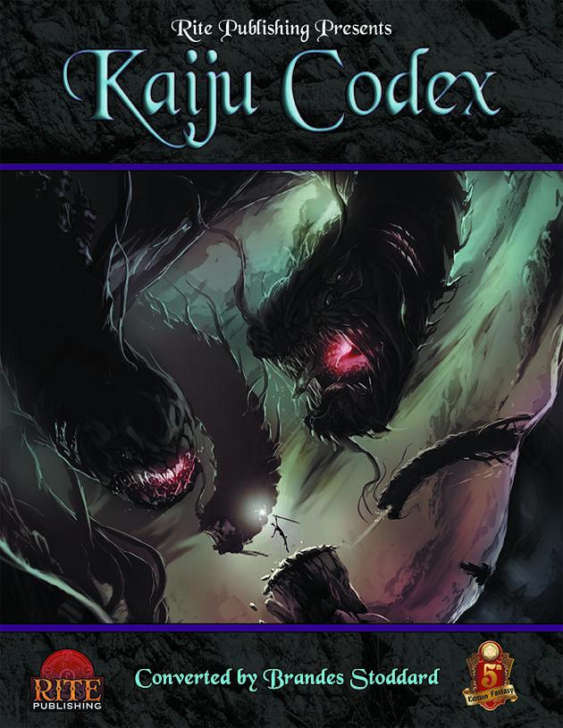 Kaiju Codex (5e) - Rite Publishing | 5th Edition OGL | DriveThruRPG com