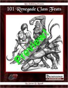 101 Renegade Class Feats FREE Preview (PFRPG)