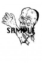 Zombie Head and Hand Art / Clipart