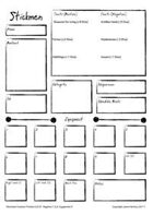 Stickmen Character Sheet