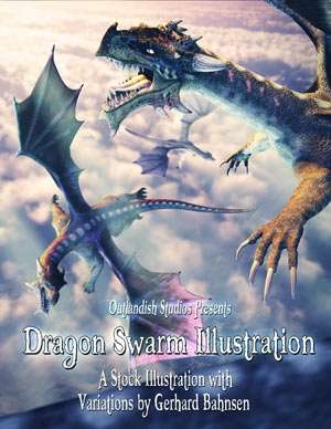 Dragon Swarm Stock Illustration