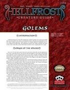 Hellfrost Creature Guide: Golems