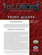 Hellfrost Creature Guide: Frost Giants