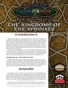 Hellfrost Land of Fire Realm Guide #22: The Kingdoms of the Sphinxes