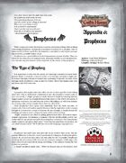 Leagues of Gothic Horror Appendix 6: Prophecies