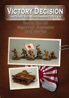 Victory Decision: Pacific War - Imperial Japanese Army Guide