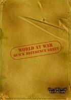World at War: Quick Reference Sheet